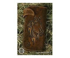 Skórzany portfel ręcznie robiony. perełka - jedyny taki na świecie